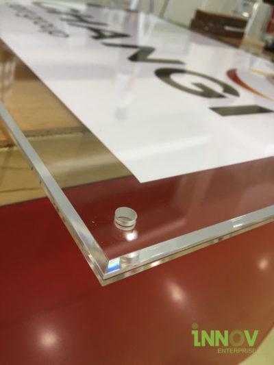 Acrylic Sandwich Frame with Bevel Edge