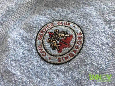 Logo Embroidery on Bath Towel
