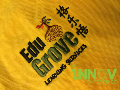 Logo Embroidery on Honeycomb Polo T-shirt