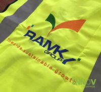 Embroidery on Safety Vest- Ramky