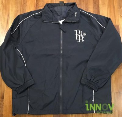 USS Windbreaker with Embroidery on front left chest
