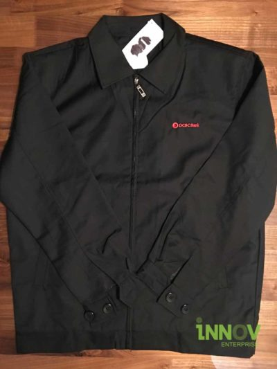 Custom Jacket with logo embroidery pmn front left chest