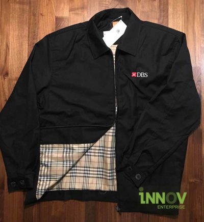 Customized Corporate Jacket with checkered interior