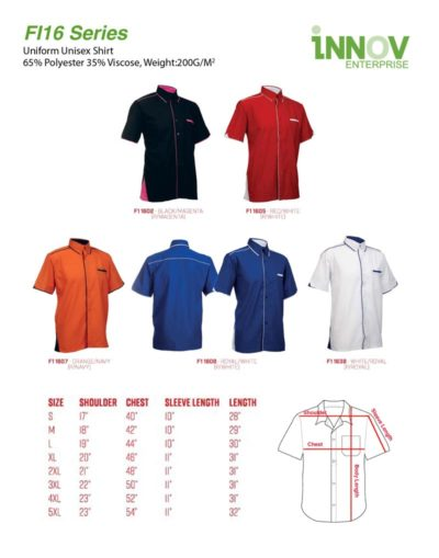 F1 uniform tops for work