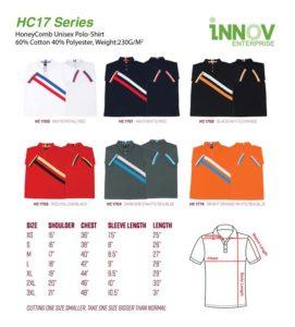 HC17 HoneyComb Polo T-shirt Catalogue