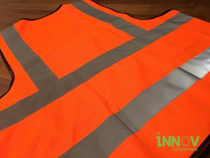 SV Orange Safety vest back