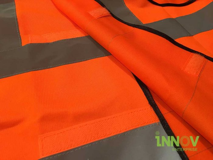 SV Orange Safety vest with velcro