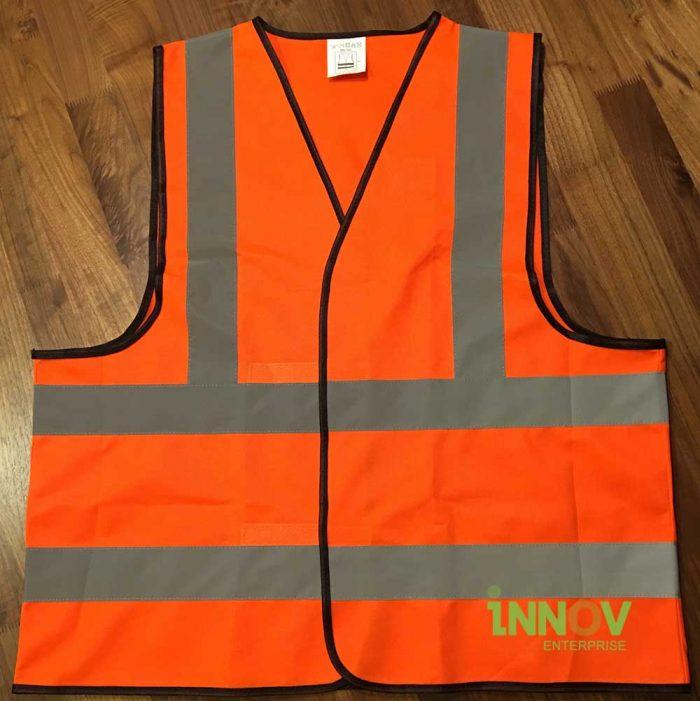 SV Orange reflective Safety Wear front