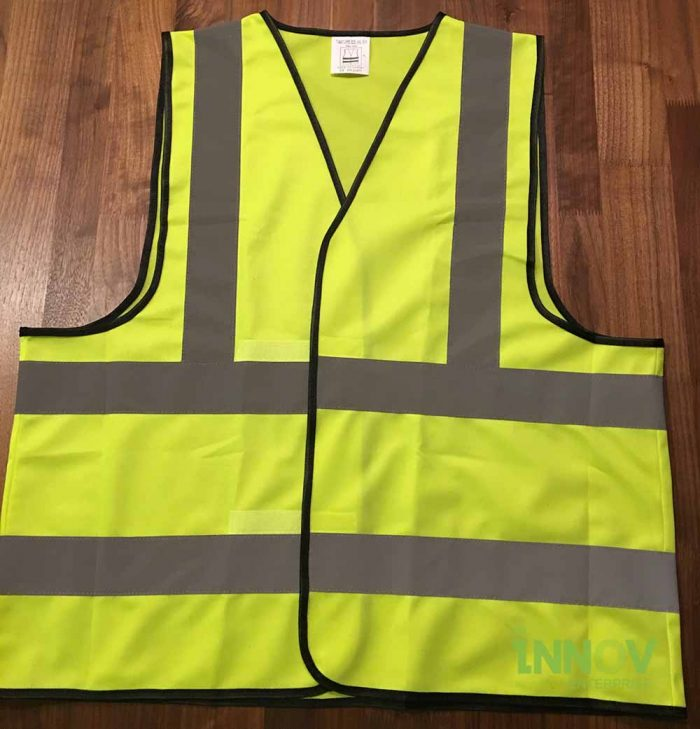 SV Yellow Safety Vest with velcro front