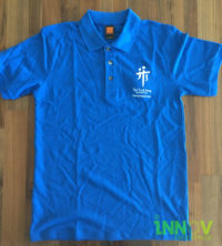 TTSH HoneyComb Polo-T-shirt Embroidery on front left chest