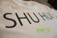 Name Vinyl Print at the back of t-shirt
