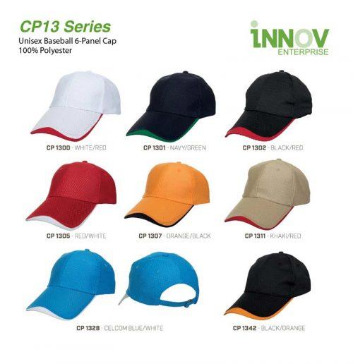 CP13 Baseball 6-Panel 100% Polyester Cap 67d046aa2f53